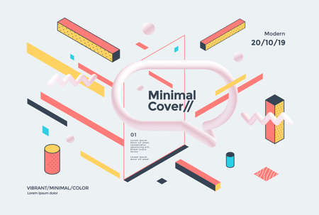 Creative design poster with a geometric shapes