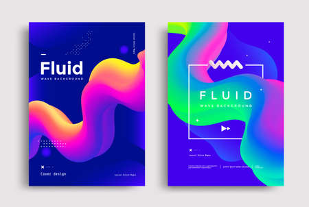 Creative poster design with 3d flow shape Vectores