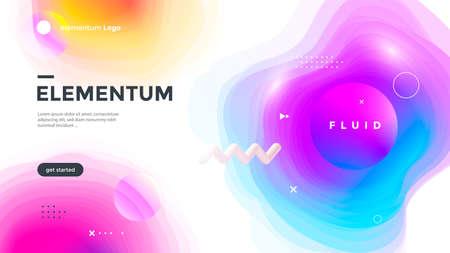 Minimal poster layout with vibrant gradient blurs. Illusztráció