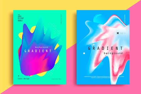 Fluid Gradient modern poster with fluid shape Illusztráció