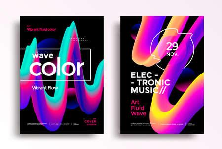Modern poster layout with Creative 3d flow shape Illusztráció
