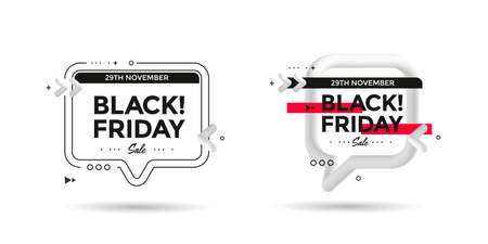 Black Friday sale poster with 3d flow shape Illusztráció