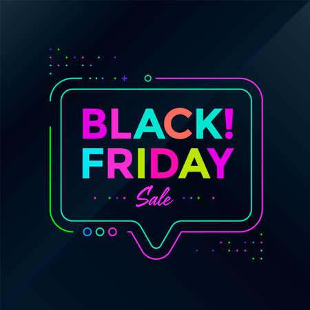 Black Friday sale poster design. Sale banner