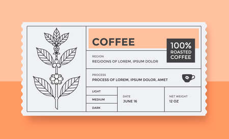 Packaging design for coffee. Vector vintage label