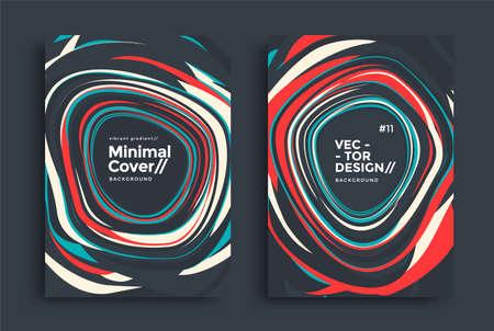 Set of geometric design. Dynamic striped design Ilustração