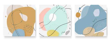 Set of abstract different shapes. Minimal banner Ilustração