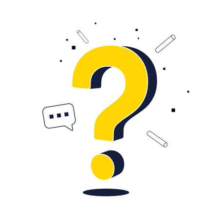 Question mark web page design. FAQ sign Ilustração