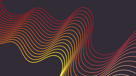 Modern poster design with striped pattern.