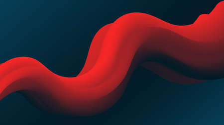 Red Abstract fluid wave. Modern gradient shape