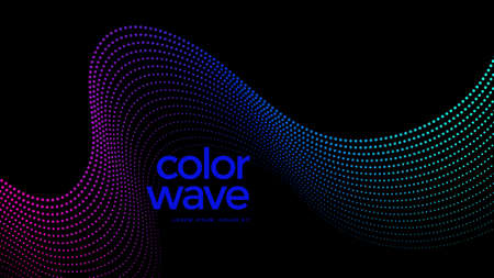 Abstract background with dynamic wave