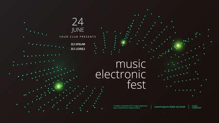 Music wave poster design. Electronic Sound Ilustração