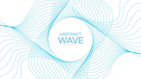 Abstract color wave pattern. Isolated wavy lines