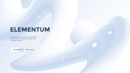 Neumorphism poster with gradient light wave.