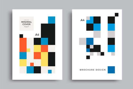 Corporate geometric poster with square pattern Ilustração