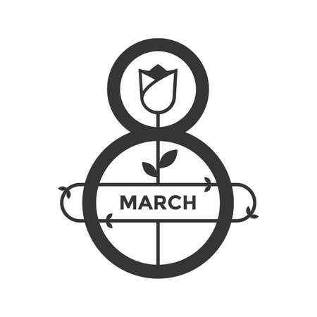 March Womens Day icon black