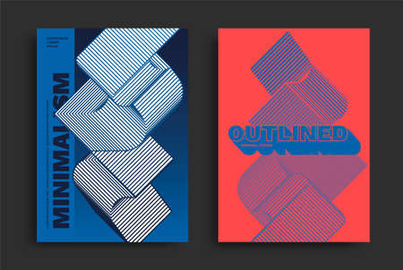 Swiss modern geometric poster template. Ilustração