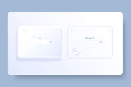 Modern white browser window