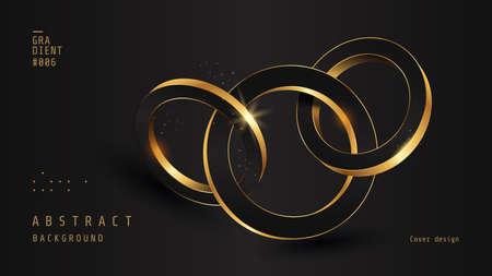 Luxury background wiht 3D Golden ring