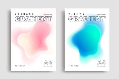 Minimal poster layout with vibrant gradient blurs. Ilustração
