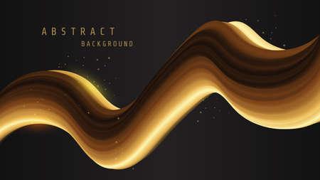 Creative design 3d flow golden shape design