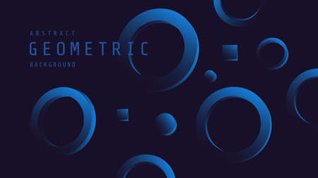 Minimal deep blue background with geometric shape