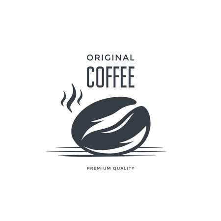 Coffee bean Label or Emblem.