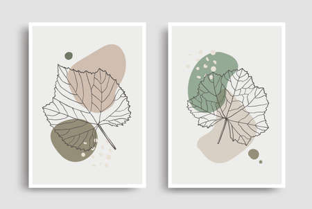 Organic shape leaves design for wall decoration