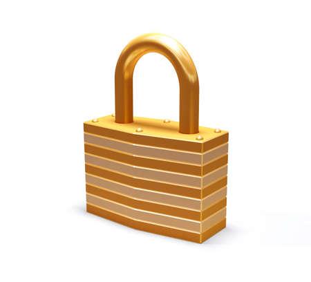 isolated padlock Stock Photo - 6657733