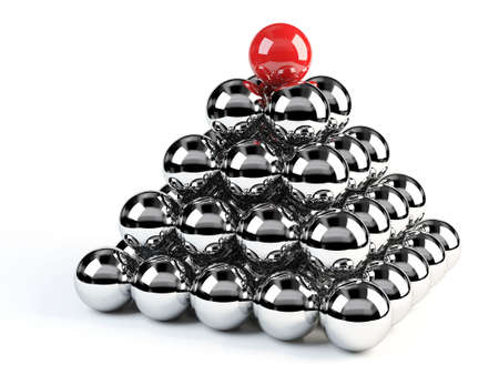 perfection: 3d Balls Pyramid