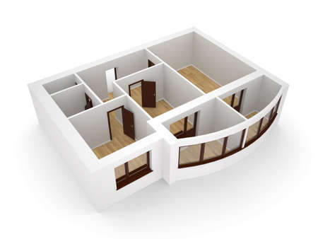 floorplan: Isolaned modern apartment with two balkons