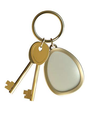 3d Golden Keys with Trinket photo