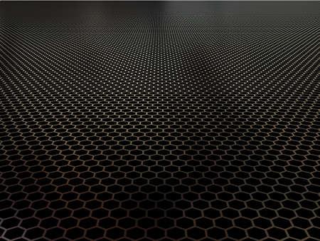 dark hole: Concept of black shiny polygon background
