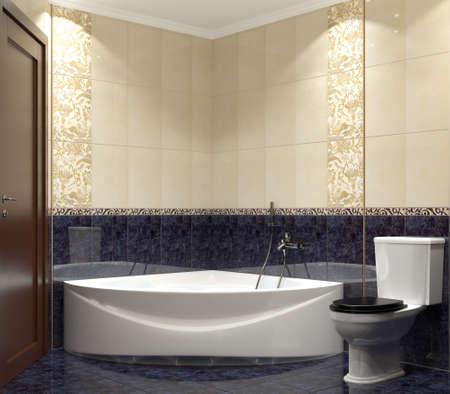 3D render modern interior of bathroom Stock Photo - 6893519