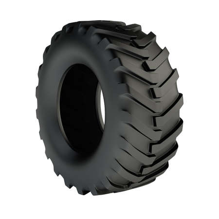 industrial objects equipment: Isolated 3d tractor tyre