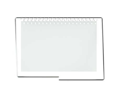 3d blank calendar on white Stock Photo - 7256515