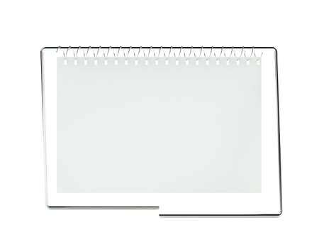 3d blank calendar on white Stock Photo - 7256515
