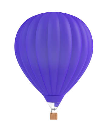 3d render of blue balloon on white