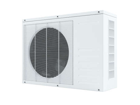 3d air conditioner on white