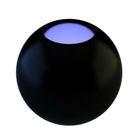 Render of magic 8 ball on white background photo