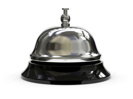bell bronze bell: 3d render of Reception bell
