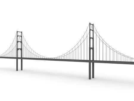 engineering concept: 3d bridge om white background Stock Photo
