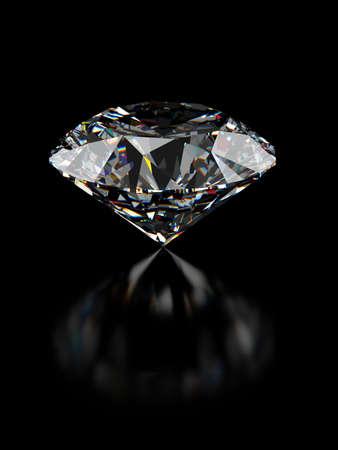 round brilliant: procesamiento 3D de perspectiva de diamante de corte brillante redondo