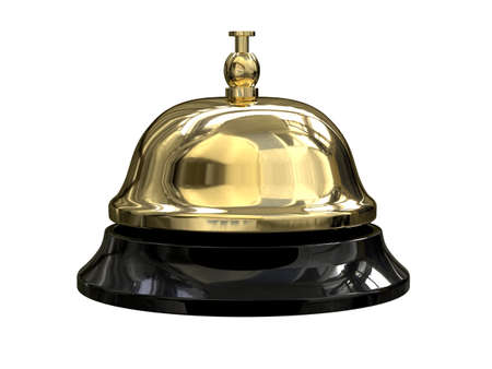 3d render of Reception bell Stock Photo - 7779370