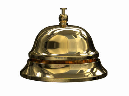 3d render of Reception bell  photo