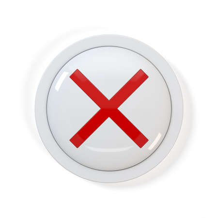 3d render of X button on white background Stock Photo - 7962643