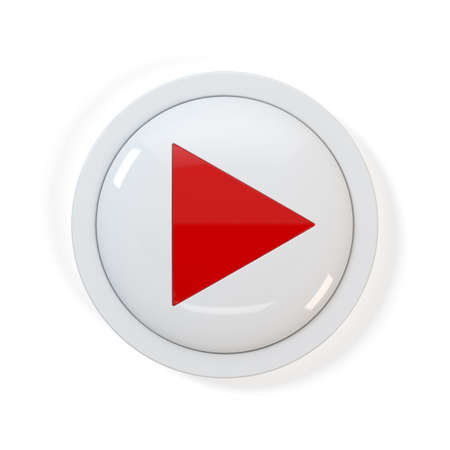 play button: 3d render of Play button on white background Stock Photo