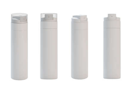 3d render of different views isolated sprays  Stock Photo