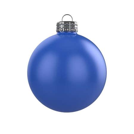 3d render of shiny blue xmas bauble on white background Stock Photo - 8381092