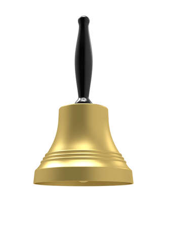 3d renderof gold bell on a white background Stock Photo - 8503833