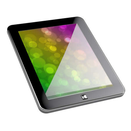 3d render of pc tablet with clipping path on white background Stock Photo - 8503842